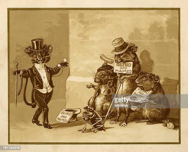 ilustrações, clipart, desenhos animados e ícones de três mulheres mice pintura, sépia - estereótipo de classe trabalhadora
