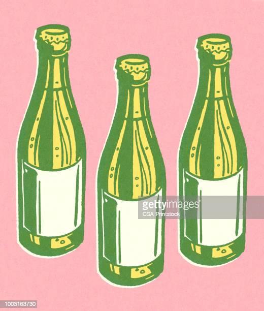 3 つのボトル - ビール瓶点のイラスト素材/クリップアート素材/マンガ素材/アイコン素材