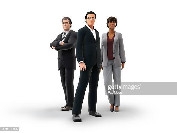 ilustraciones, imágenes clip art, dibujos animados e iconos de stock de three business people - mujeres de mediana edad
