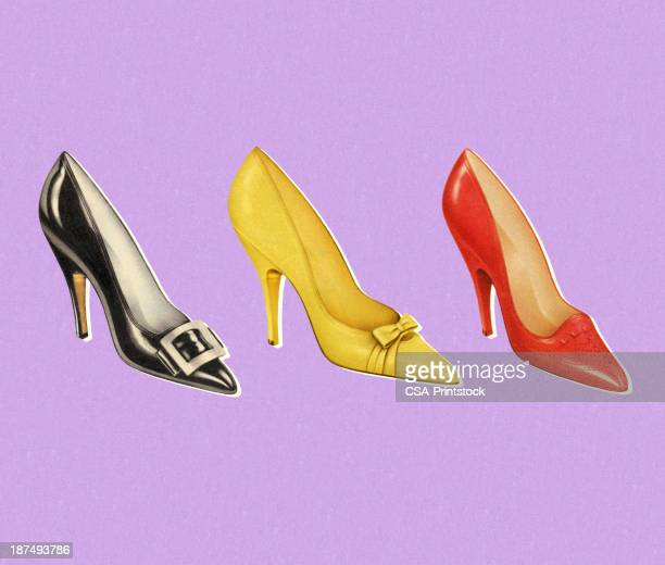 Three Different  Color Pumps