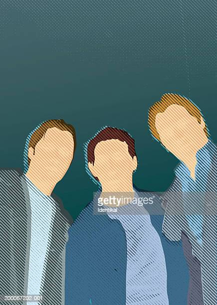 Three faceless men