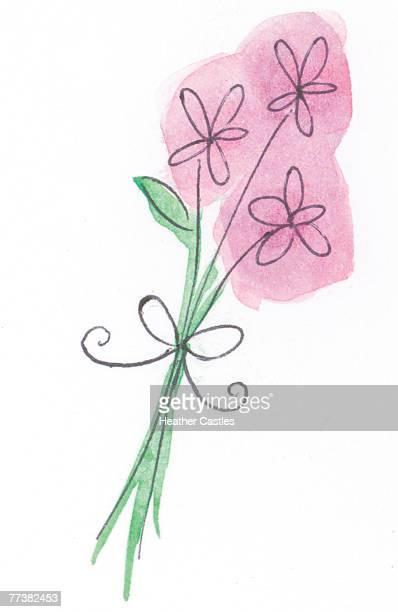 Three flower bouquet