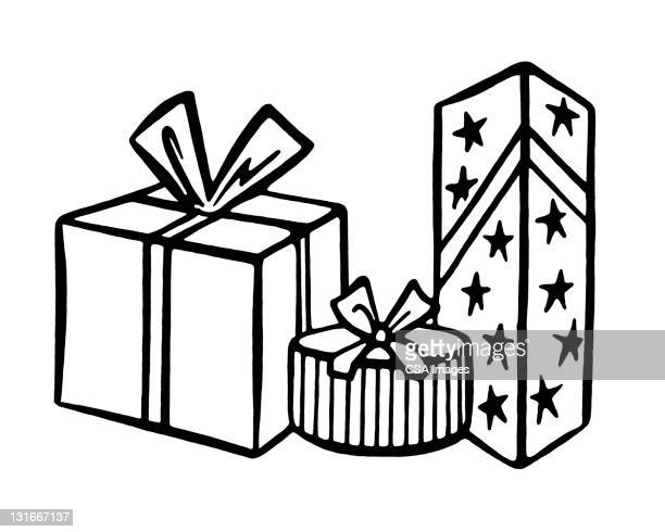 three gifts - giving stock illustrations