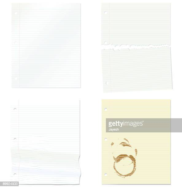 Three Hole Punch Paper Background Elements