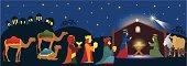 Three Kings coming to Bethlehem