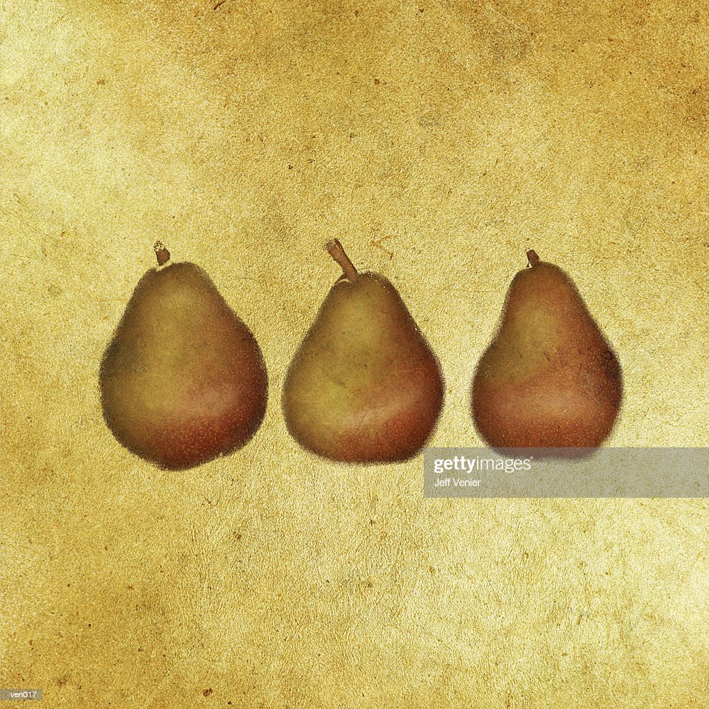Three Pears : Stock Illustration