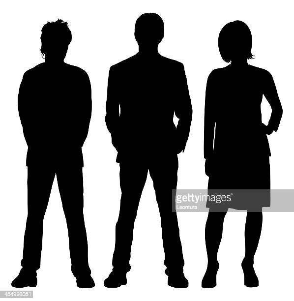 three people - three people stock illustrations