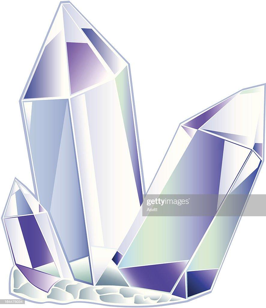 three quartz crystal