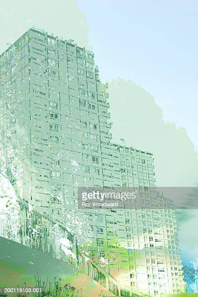 Three residential tower blocks