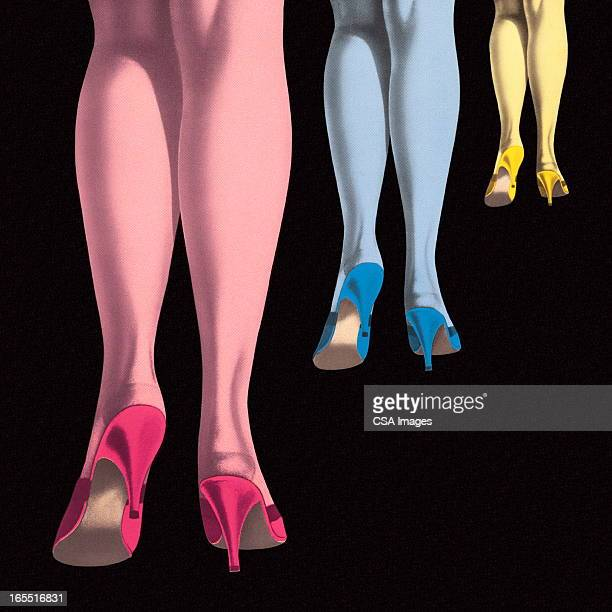 Three Sets of Women's Legs