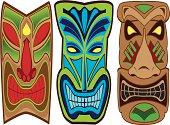 three tike face masks