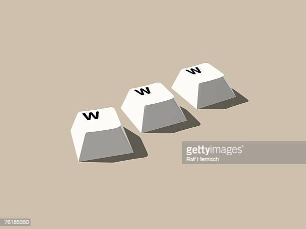 Three 'w' computer keys