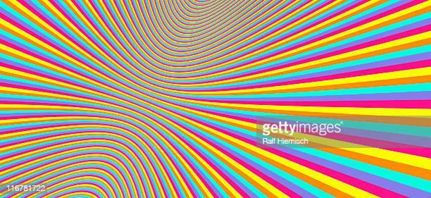 illustrazioni stock, clip art, cartoni animati e icone di tendenza di three-dimensional striped pattern - illusione