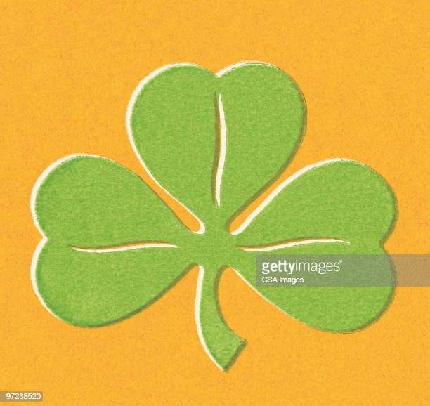 three-leaf clover - luck stock illustrations