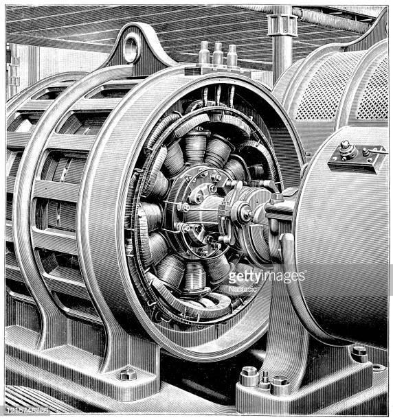 三相ダイナモマシン。 - 19世紀点のイラスト素材/クリップアート素材/マンガ素材/アイコン素材