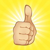 Thumbs Up Gesture (vector + XXL jpg in ZIP folder)