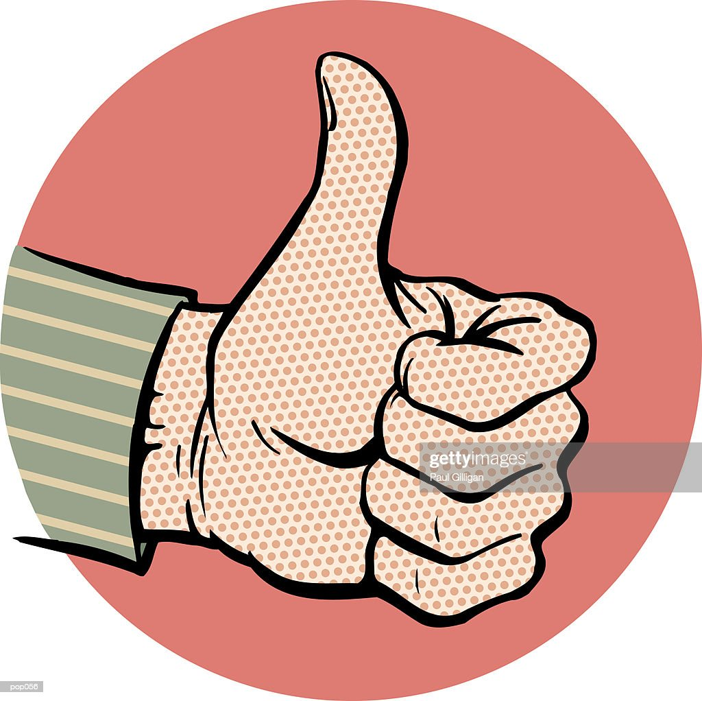 Thumbs Up : Stock Illustration