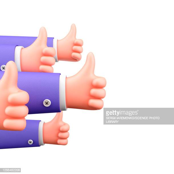 thumbs up, illustration - following stock illustrations
