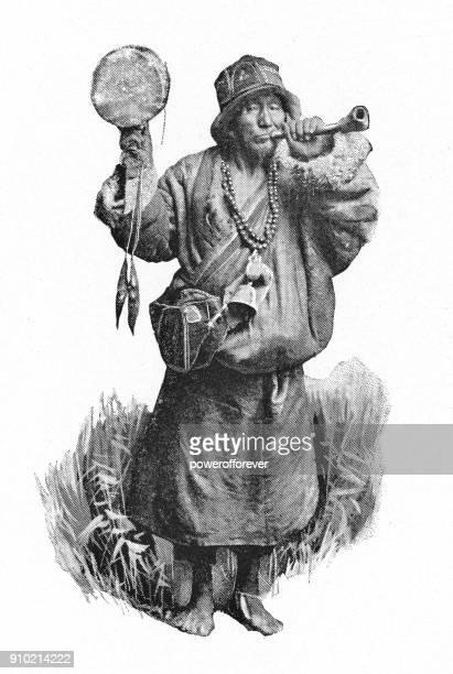Tibetan Musician - British Era