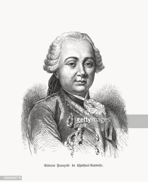 stockillustraties, clipart, cartoons en iconen met étienne françois, hertog van choiseul (1719-1785), franse ambtenaar, houtsnede, 1893 - duke