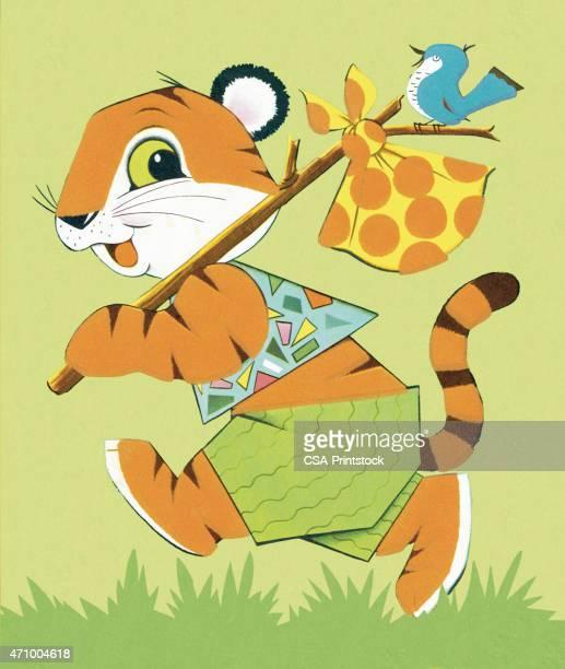 illustrations, cliparts, dessins animés et icônes de tigre - vagabond