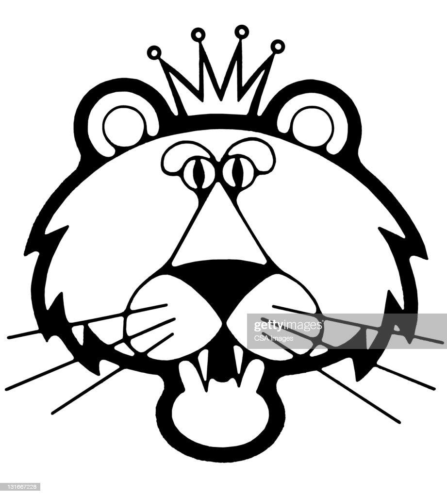 Tiger Wearing Crown
