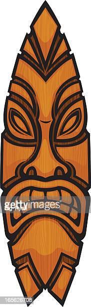 tiki board - hawaiian ethnicity stock illustrations, clip art, cartoons, & icons