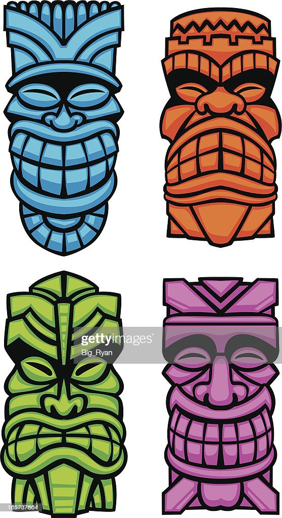Tiki Gods High-Res Vector Graphic - Getty Images