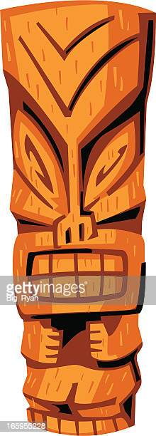 tiki idol - hawaiian ethnicity stock illustrations, clip art, cartoons, & icons