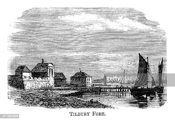 Tilbury Fort and River Thames (1871 engraving)