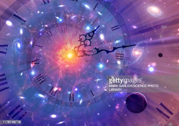 time dilation, conceptual illustration - time stock illustrations