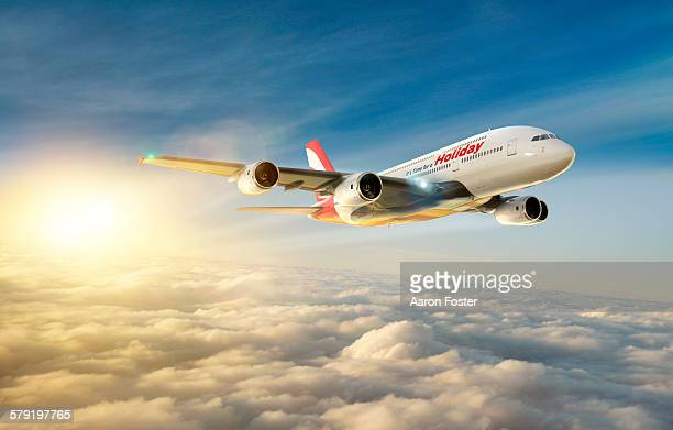 time for a holiday aircraft - vacations stock illustrations