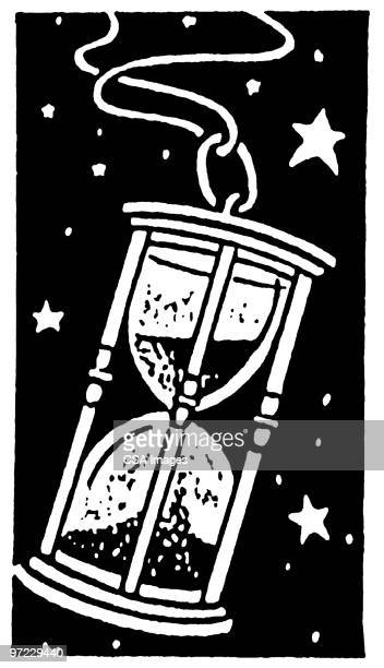 time - hourglass stock illustrations
