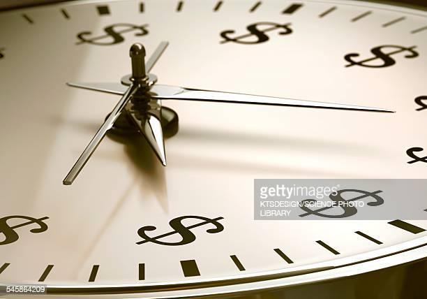 ilustrações, clipart, desenhos animados e ícones de time is money, illustration - tempo é dinheiro