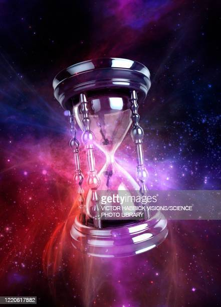 time travel, illustration - hourglass stock illustrations