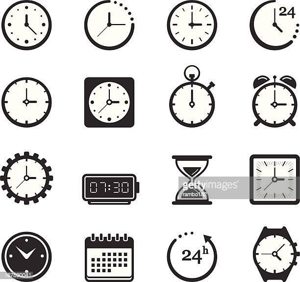 time/clock icons - alarm clock stock illustrations