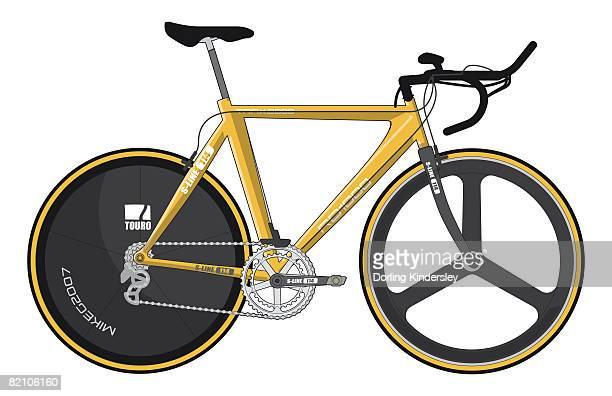 time-trial bike - criação digital stock illustrations