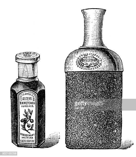 tincture - etching stock illustrations