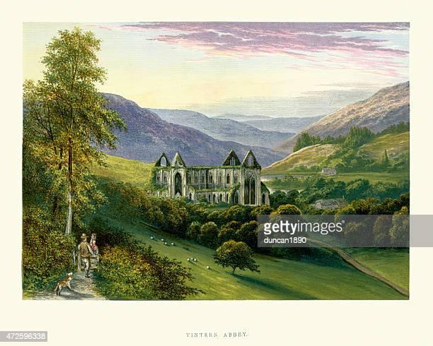 ilustrações, clipart, desenhos animados e ícones de abadia de tintern cisterciense, país de gales - cisterciense