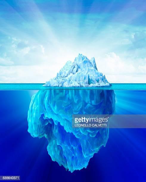 tip of an iceberg, artwork - berg stock illustrations