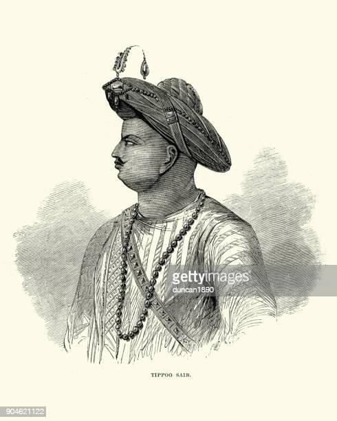 tipu sultan - sultan stock illustrations