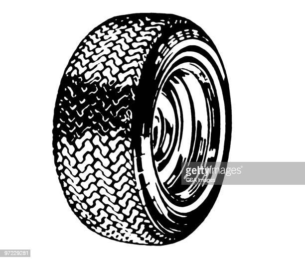 tire - tire vehicle part stock illustrations, clip art, cartoons, & icons