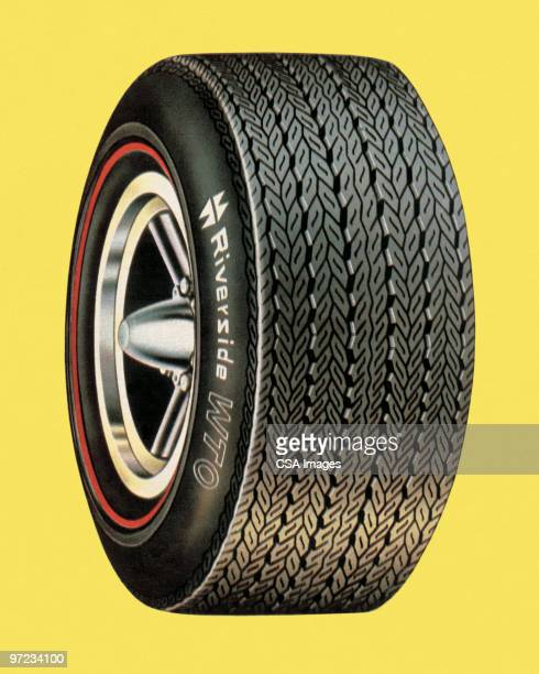 tire - coloured background stock illustrations