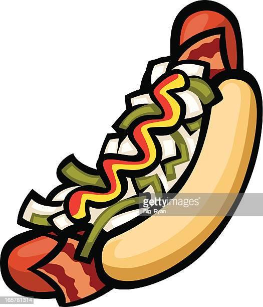 tj hotdog - fajita stock illustrations