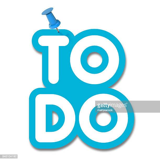 to do label pinned to a plain white background - to do list stock illustrations, clip art, cartoons, & icons