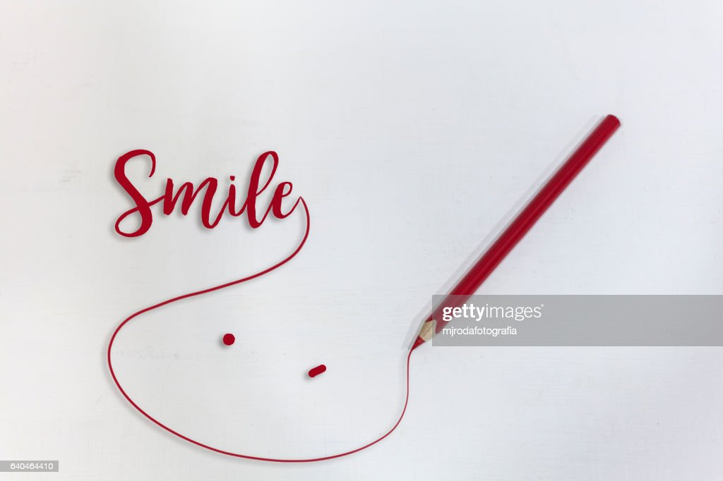 To draw a smile : stock illustration
