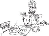 Toast, coffee and crosswords