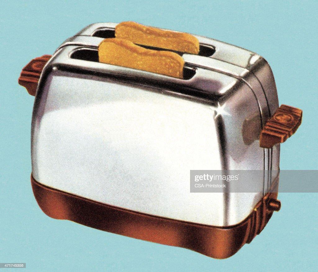 Toast in Toaster : stock illustration