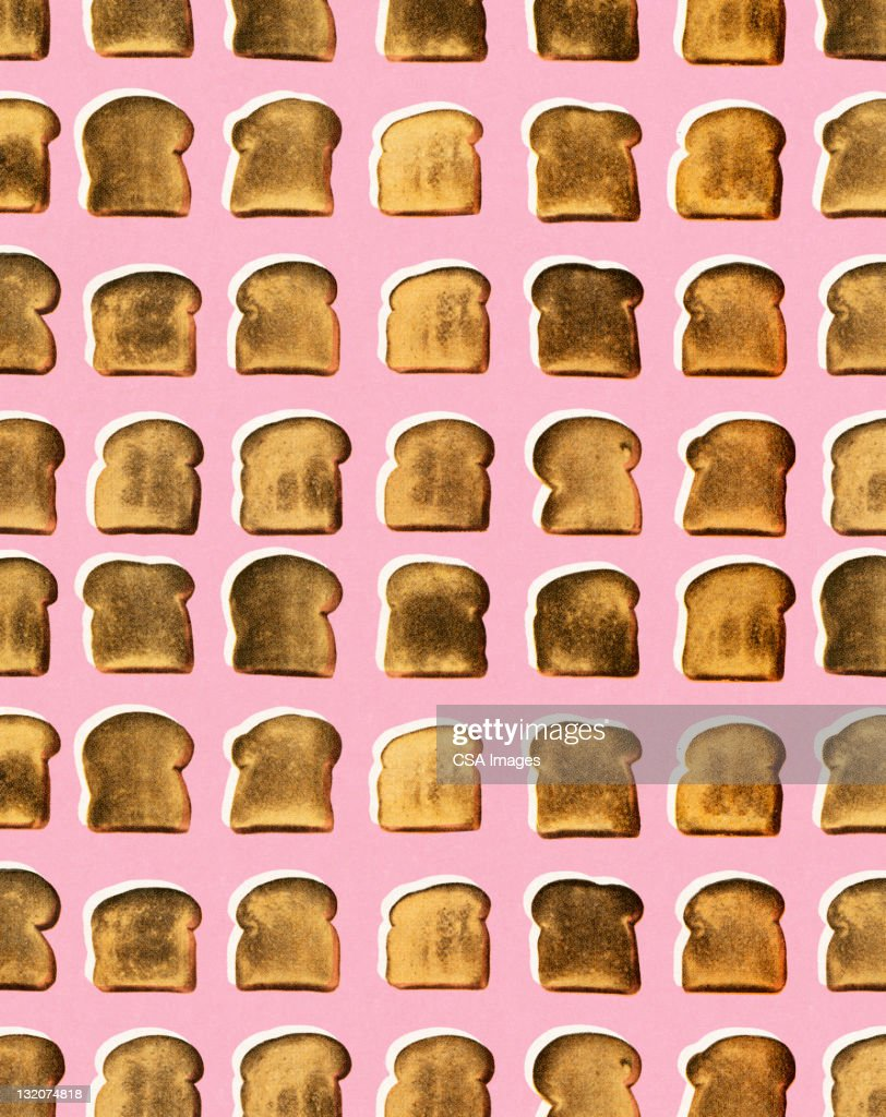 Toast Pattern : stock illustration