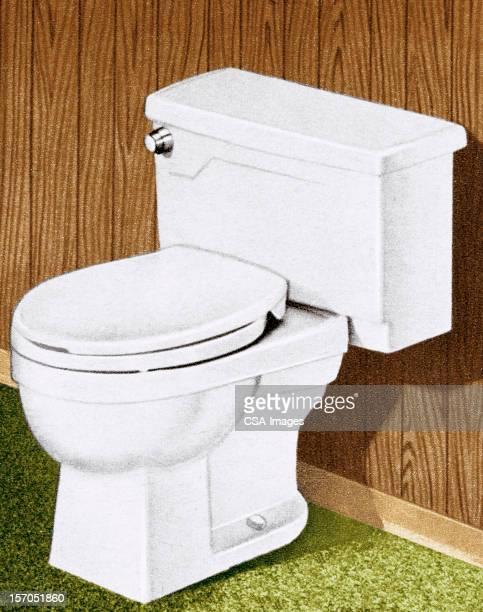illustrations, cliparts, dessins animés et icônes de des toilettes - cuvette des toilettes